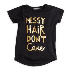 T-paita, Musta, Puserot & tunikat, Lapset | Lindex