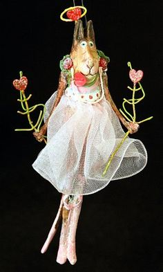 Krinkles Ballerina Cat Ornament by Patience Brewster