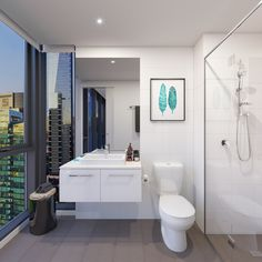 One of the bathrooms from Southbank Central. Imagine starting your day with a view like this!
