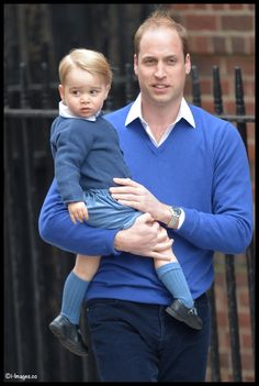 Prince George in Rachel Riley & The Princess of Cambridge in a Knit Cap and Blanket  