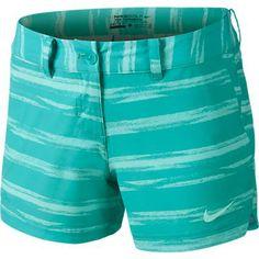 Lt Retro Nike Ladies Greens Art Teal Golf Shorty Shorts at #lorisgolfshoppe