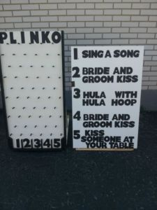Wedding Plinko.. but with better options
