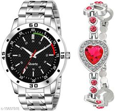 Watches K23 & J8 Pack of 2 Attractive Unique Dial With Unique And Exclusive New Analog Watches For Men & Women Bracelet Strap Material: Stainless Steel Display Type: Analogue Size: Free Size Multipack: 2 Country of Origin: India Sizes Available: Free Size   Catalog Rating: ★4.3 (295)  Catalog Name: Classy Men Watches CatalogID_1941497 C65-SC1232 Code: 082-10601918-606