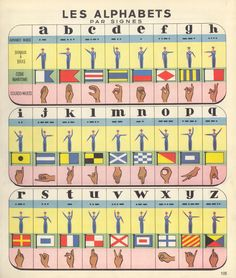 #French Sign Language #FSL Manual Alphabet with other symbolic lettering systems: Morse Code etc.