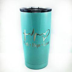 www.WillowHomeCreations.com  Faith, Hope, Love EKG