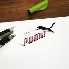 Calligraphie 3D par Tolga Girgin  Dessein de dessin