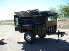military camping trailer
