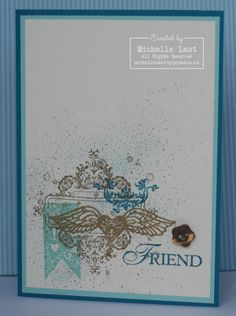 Love the layered images on Michelle's Affection Collection card!