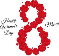 Women's Day 8 March, 8th Of March, Happy Woman Day, Happy Women, Eps Vector, Vector Free, Beautiful Rose Flowers, Ladies Day, Graphic Design Art