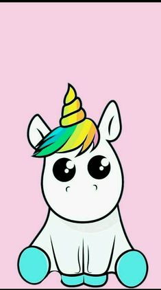 Pin by whitney on unicorns Unicorn Horse, Unicorn Art, Cute Unicorn, Cute Wallpapers, Wallpaper Backgrounds, Iphone Wallpaper, Colorful Drawings, Cute Drawings, Unicorn Wallpaper Cute