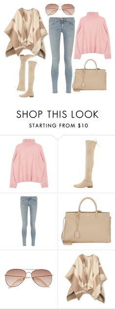 2016/161 by dimceandovski on Polyvore featuring Johnstons, rag & bone, Yves Saint Laurent and H&M