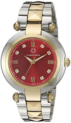 Cabochon Womens CABOCHON16088SG24 Cairo Analog Display Quartz Two Tone Watch -- Want to know more, click on the image.