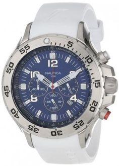 05076bd1d83 Relógio Nautica Men s N14537G NST Round Chronograph Resin Band Watch   Relogio  Nautica Relógios Masculinos