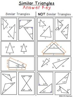 Printables Similar Triangles Worksheet student the ojays and triangles on pinterest similar sorting activity freebie