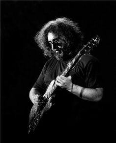 """Jerry Garcia--Perhaps Best As An Acoustic Man, Garcia and His Merry Prankster Fans Created a Nation...Now """"Truckin'"""" In Heaven...Rip, Friend..."""