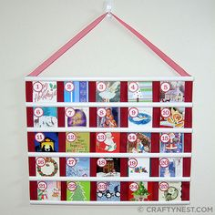 great way to re-use old christmas cards!
