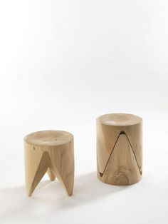 J+i Zig + Zag Stools by Riva 1920 - Via Designresource.co