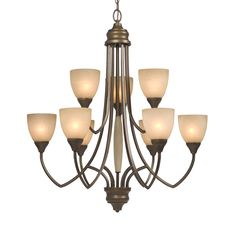 Galaxy Lighting 810746TY 9 Light Chelsey Chandelier, Tuscany - Lighting Universe