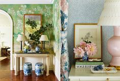 COCOCOZY: FLOWER ON FLOWER - FASHION FORWARD...  Designer Ashley Whittaker mixes in floral layering into her design of Park Avenue apartment!