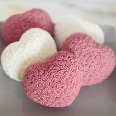 "Coca Butter Heart shaped soaps with clusters of petite roses. Absolutely feminine! This soap is made with ultra moisturizing coca butter perfect as a shower bar or as a guest soap. This gift is packaged in a clear purse box wrapped in ribbon and adorned with a sweet silver heart charm that reads ""Hand Made With Love"""