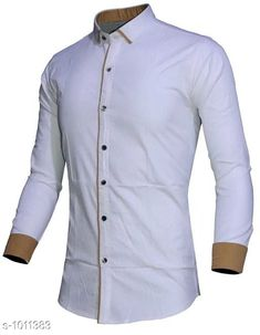 Shirts Fashionable Cotton Solid Shirt  *Fabric* Cotton  *Sleeves* Full Sleeves Are Included  *Size* S, M, L, XL, XXL (Refer Size Chart)  *Length* Refer Size Chart  *Fit* Slim Fit  *Type* Stitched  *Description* It Has 1 Piece of Men's Shirt  *Pattern* Solid  *Sizes Available* XXS, XS, S, M, L, XL, XXL, XXXL, 4XL, 5XL, 6XL, 7XL, 8XL, 9XL, 10XL, Free Size *    Catalog Name: Classico Mens Stylish Cotton Solid Shirts Vol 1 CatalogID_121677 C70-SC1206 Code: 494-1011383-