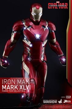 Pre-Order Hot Toys Marvel Civil War Iron Man MKXLVI Figure