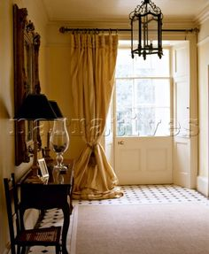Portiere Curtains at the Front Door one of my favorite looks .. I like & the relaxed home I believe most any room can benefit from adding ... Pezcame.Com
