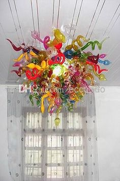 2018 100% Hand Blown Fancy Stylish Dale Chihuly Murano Glass Lamp Blown Art Decor Glass Chandelier Lights From Eccoguo, $954.78   Dhgate.Com