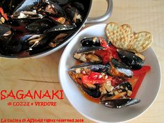 SAGANAKI DI COZZE E VERDURE  Ricetta cucina greca