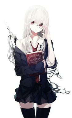 Read Anime girl: white hair from the story Mei's Gallery by (Lãnh Hàn Khả) with 97 reads. Manga Girl, Chica Anime Manga, Otaku Anime, Anime Chibi, Kawaii Anime Girl, Anime Art Girl, Anime Girls, Anime Style, Anime Lindo