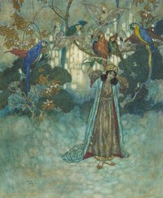 Edmond Dulac - illustration from Beauty and the Beast