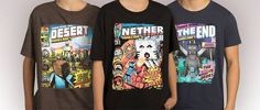 Today on Minecraft.net: we talk to the creator of our new comic-book-inspired tees! BIFF! POW! ONOMATOPOEIA! #cheapndeals #finalfantasy #dota #leagueoflegends #assassinscreed #minecraft #kingdomhearts #plantsvszombies