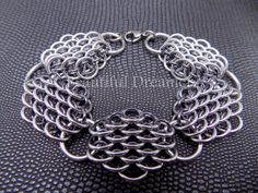 Dragonscale bracelet Check out this item in my Etsy shop https://www.etsy.com/listing/238910209/dragonscale-chainmaille-bracelet