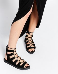ASOS FARIAND Suede Lace Up Sandal