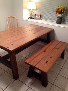 Charmant Farmhouse Table With Aged Wood Finish. Vinegar And Steel Wool Gave It The  Old Weathered