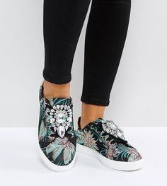 ASOS DOTTY Wide Fit Embellished Sneakers - Multi