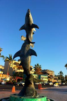 Beautiful sculpture on the Malecon in La Paz, Baja California Sur, Mexico.