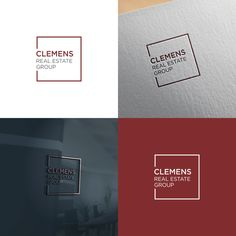 Clemens Real Estate Group - Classy, timeless, trust inspiring logo for real estate group.