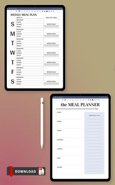 This collection of Blank Menu Templates PDF has been crafted with carefully sourced materials and formatting strategy in order to make it 100% flexible to fit your life. Getting organized and focused can make all the difference. These printables will fit perfectly in your Filofax or Kikki K planner/organizer. Day Planner Template, Weekly Meal Plan Template, Monthly Budget Template, Goals Template, Meal Planner Printable, Menu Templates, Free Printable, Printables, Kikki K Planner