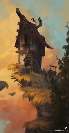 House, Carlos Nuñez Ruiz on ArtStation at https://www.artstation.com/artwork/5K91A