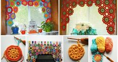 How to make crochet flower curtains