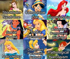 disorders disney characters - Google Search