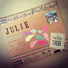 Hodgepodge envelope // via paperedthoughts.blogspot.nl