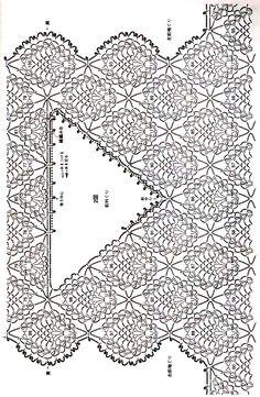 "Photo from album ""Crochet Pineapple Pattern Knitwear (Lady boutique series on - Her Crochet Crochet Lace Collar, Crochet Yoke, Crochet Diagram, Crochet Cardigan, Crochet Stitches Chart, Crochet Blanket Patterns, Pineapple Crochet, Pineapple Pattern, Crochet Capas"