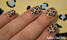 Colorful leopard mani