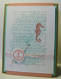 Seahorse by the Tide Card