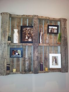 Wall Decor... Pallet - difficult to install but once it's up, it adds such a nice rustic feel to the entryway.