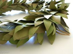 homework: today's assignment - be inspired {creative inspiration for home and life}: Inkling: brown bag wreath {faux bay leaves}