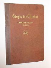 1908 Steps to Christ MV Army and Navy edition by Ellen G. White - Pristine Condt