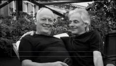 David Gilmour and the late Richard Wright of Pink Floyd.  Aww.